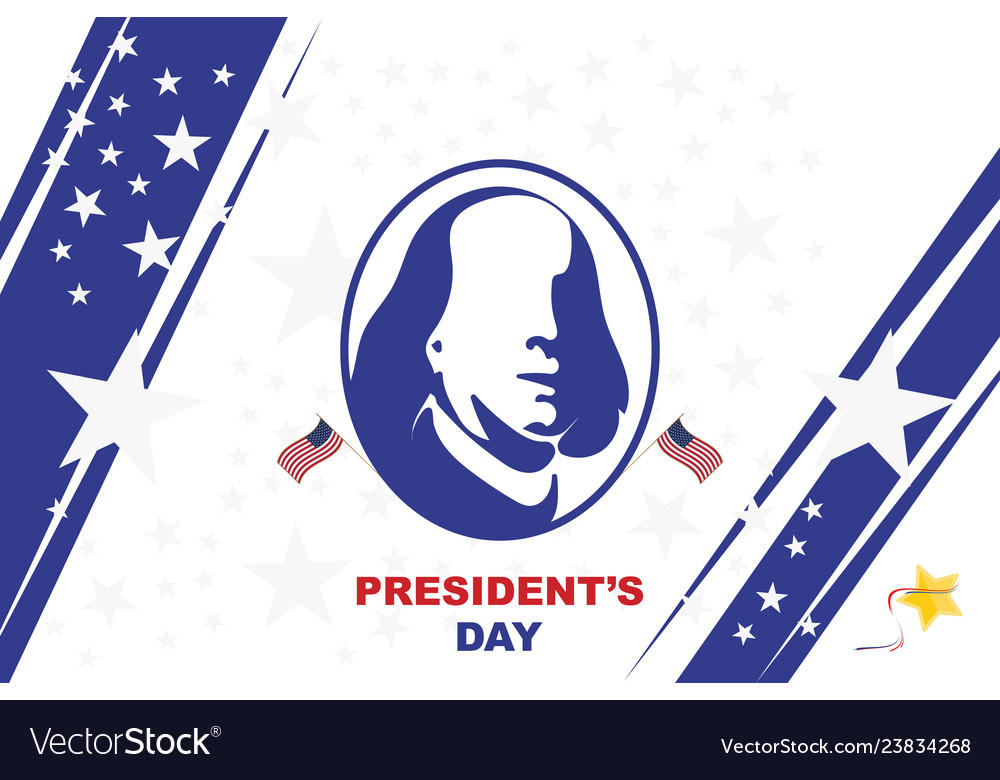 Happy presidents day of usa template design