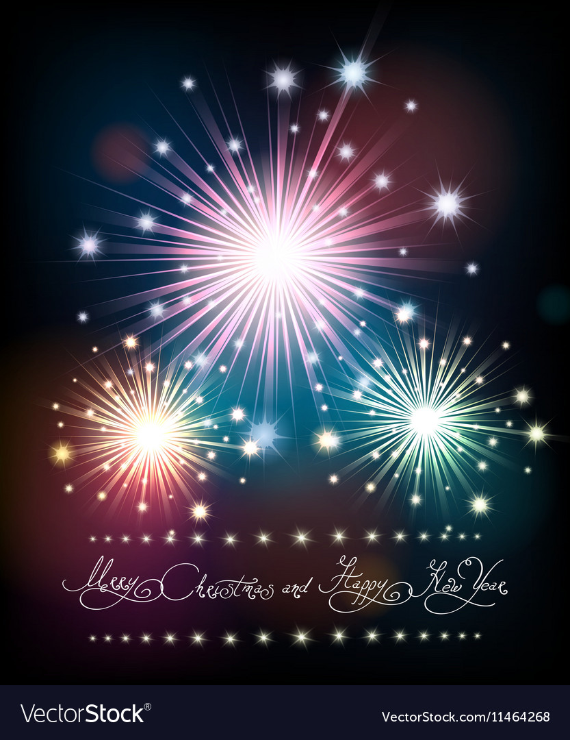 Merry Christmas and Happy New Year Poster with