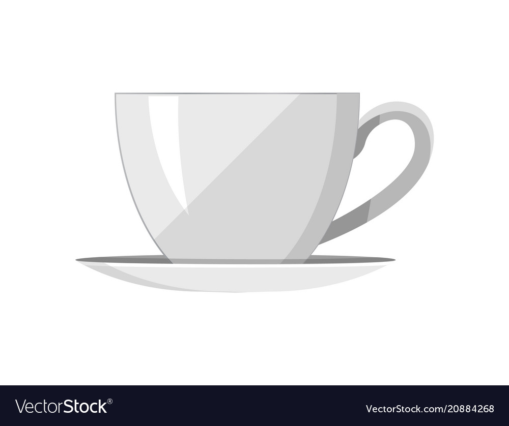 Pretty Template Of Tea Cup Royalty Free Vector Image