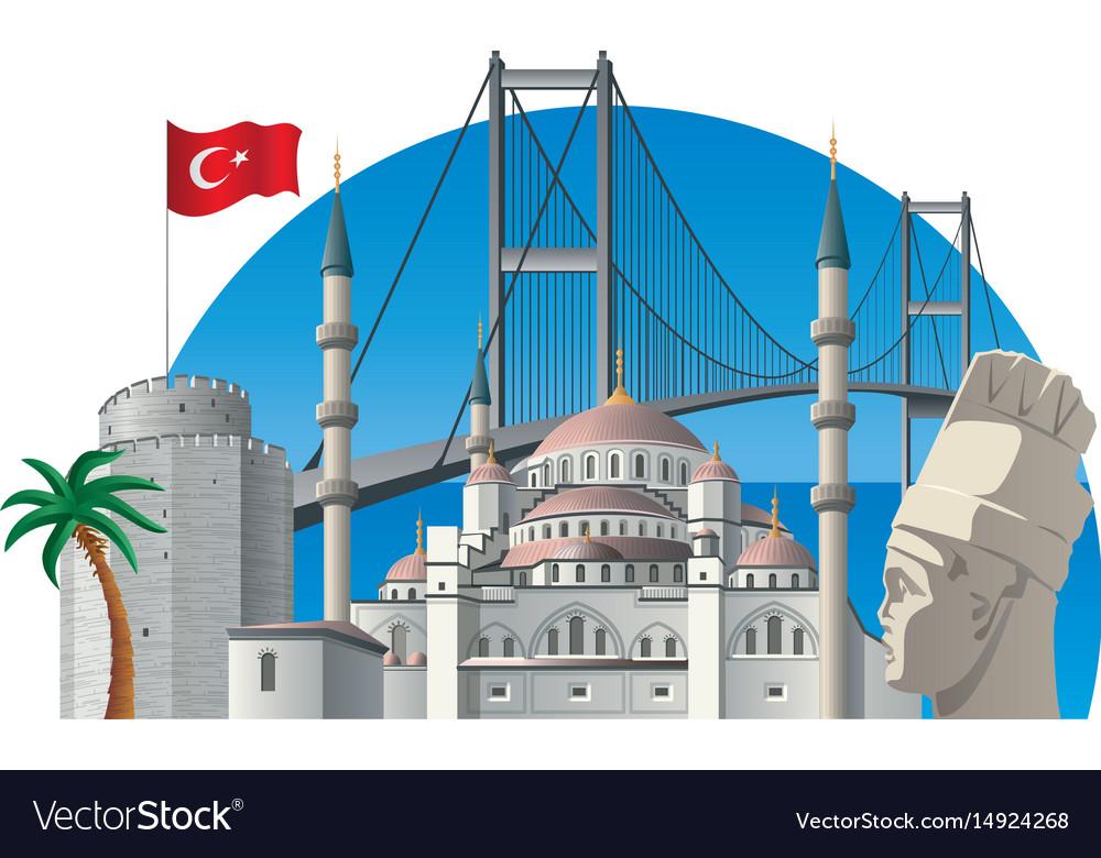 Turkey with landmarks