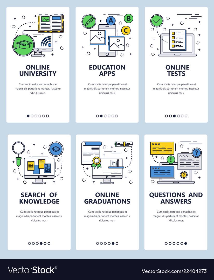 Line art web and mobile app template set