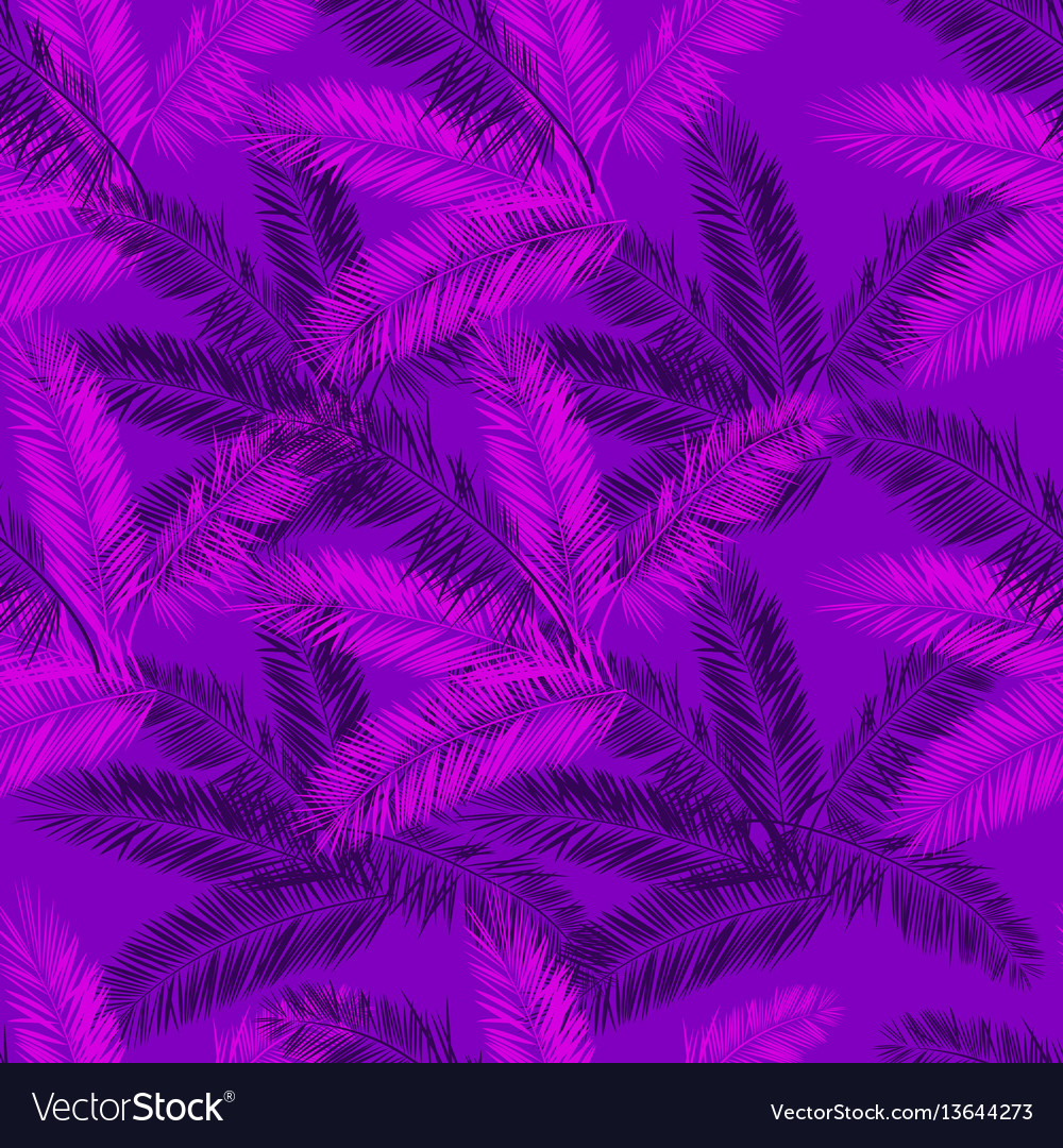 Purple and pink palm seamless pattern