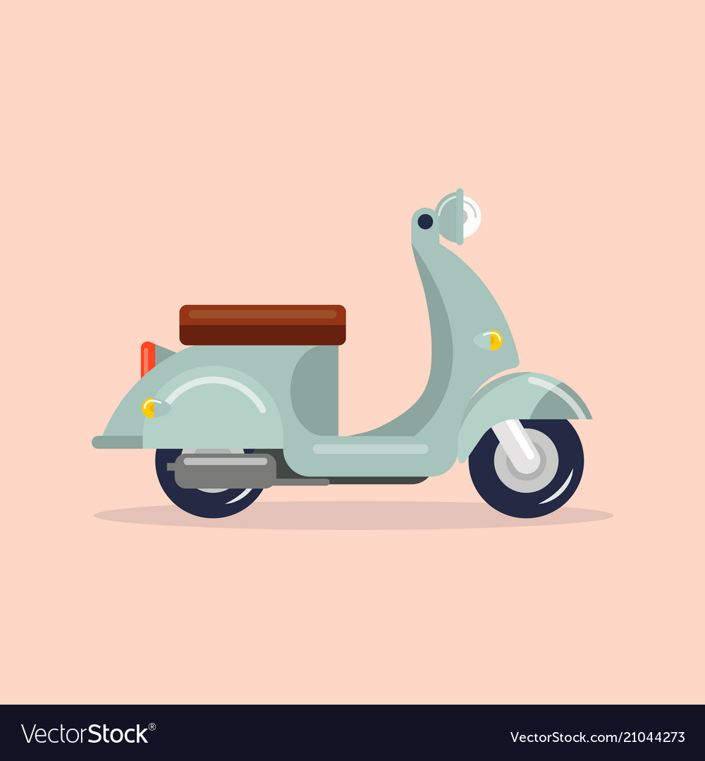 Scooter vintage style vector image