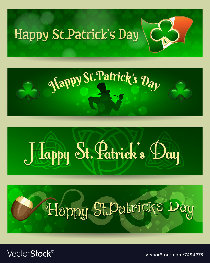 St Patricks Day headers or banners set