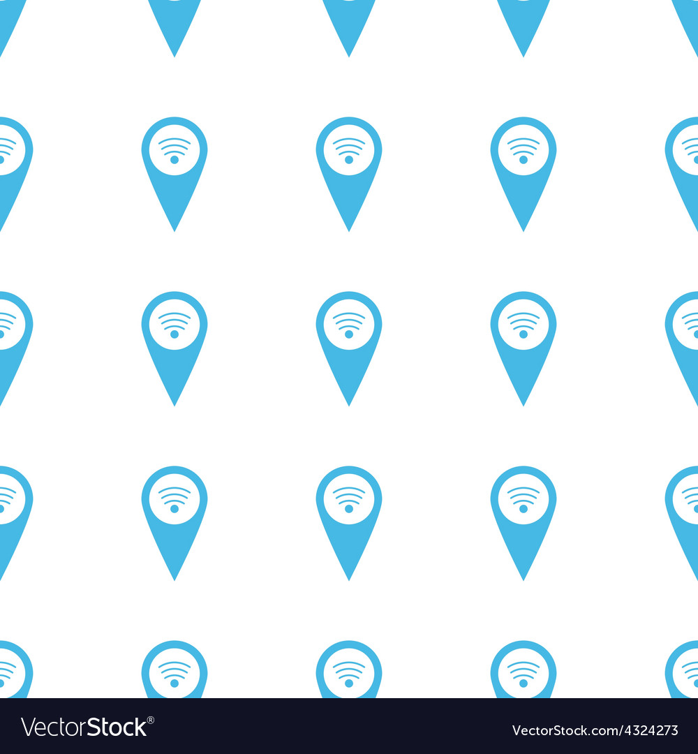 Unique Wi-fi pointer seamless pattern