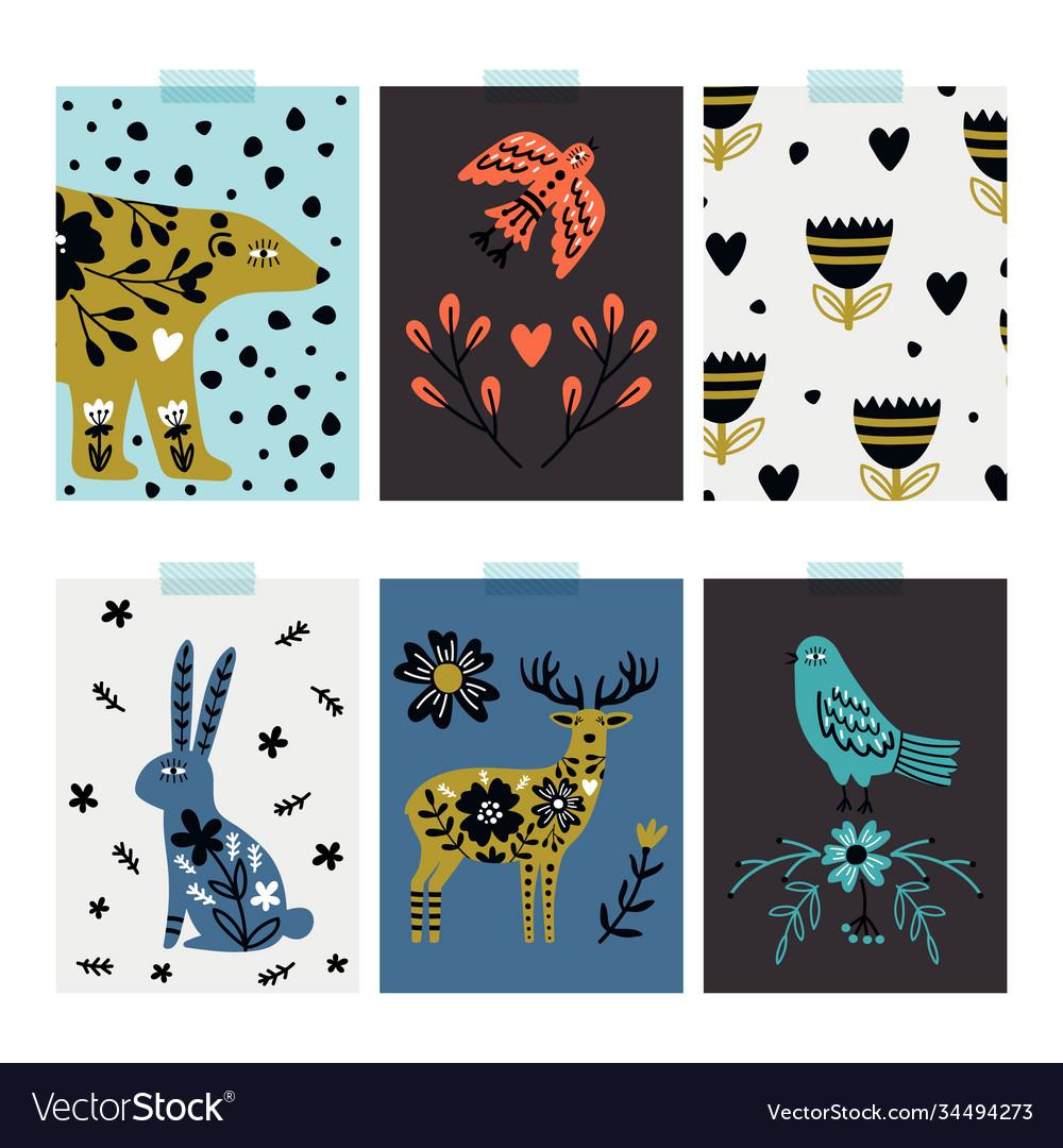 Wild animals cards