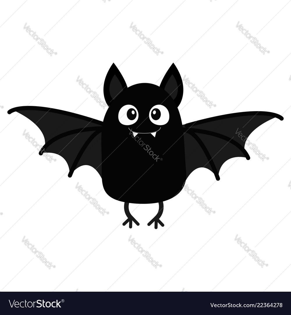 Cartoon Bats: Bat Vampire Happy Halloween Cute Cartoon Baby Vector Image