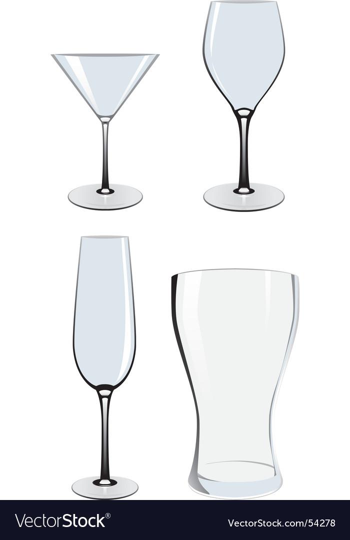 Empty glasses vector image