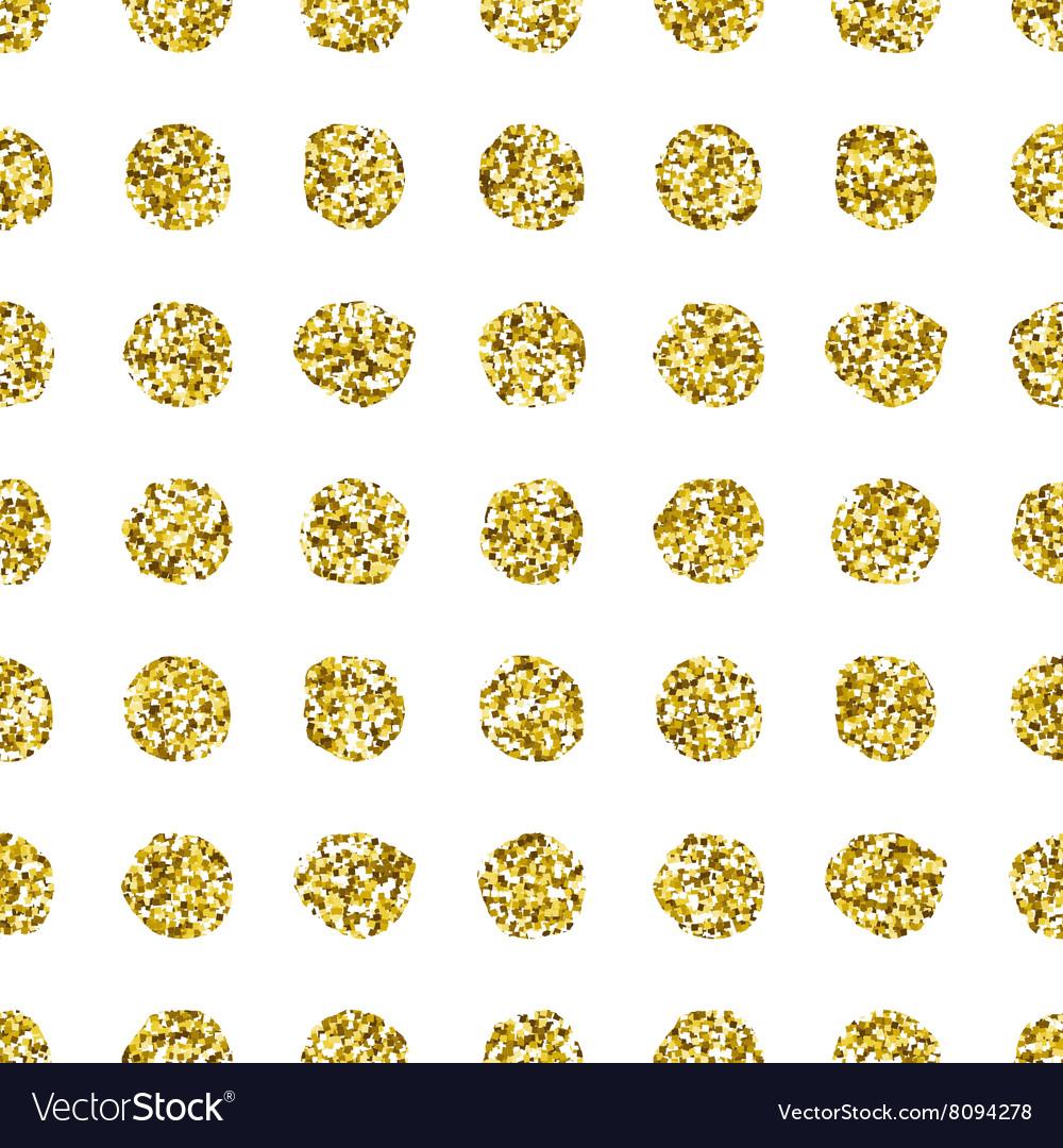 Glitter polka dot seamless pattern