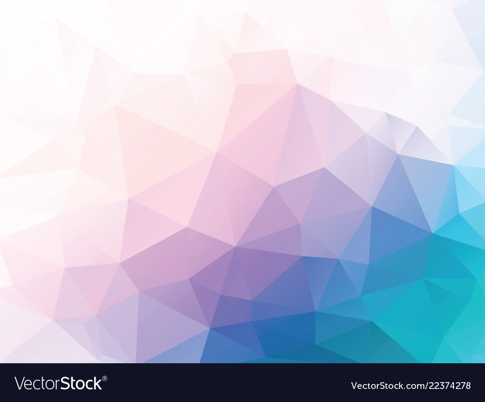 Pink blue low poly background