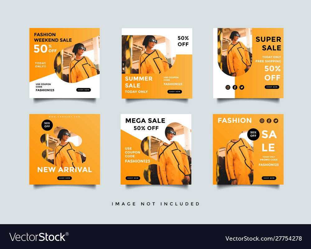 Travel Social Media Post Design Template Vector Image