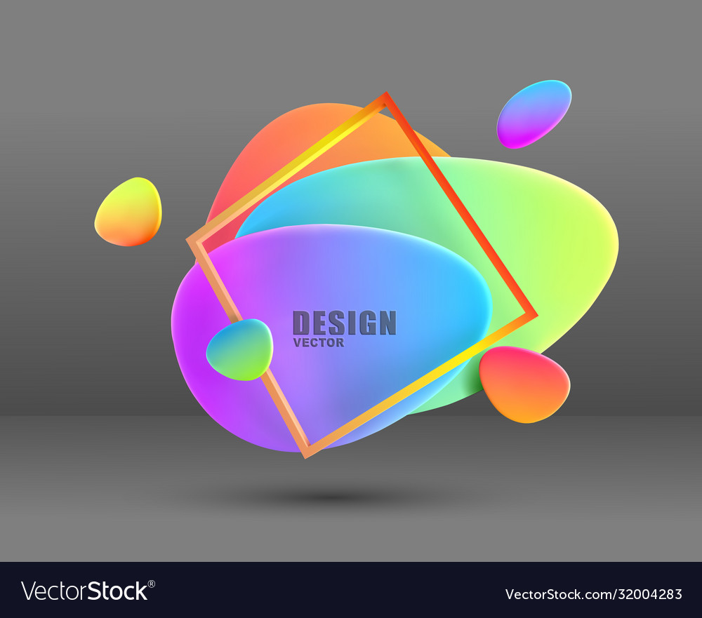Abstract modern geometric graphic element banners