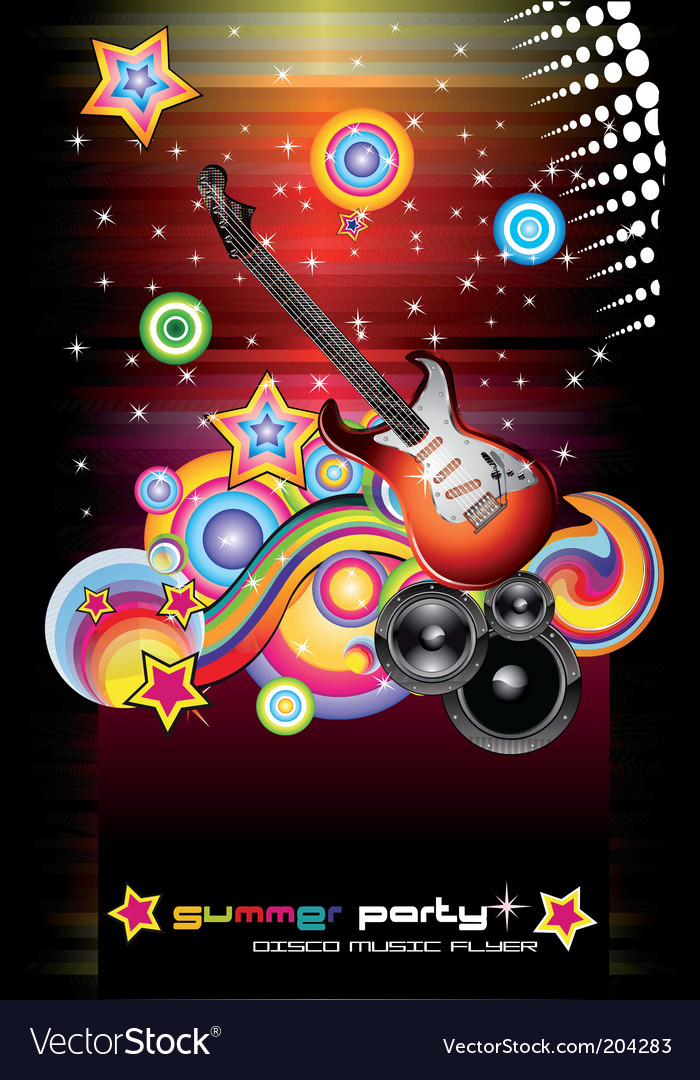 Discofantasy guitars vector image