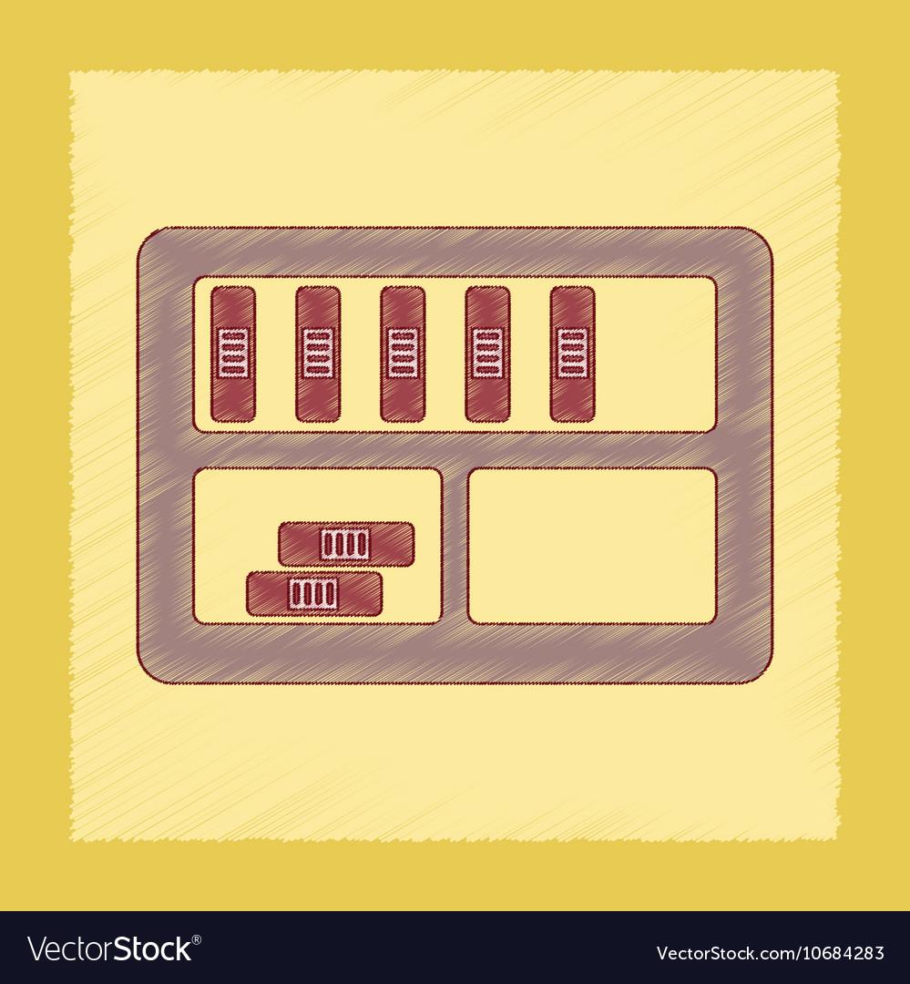 Flat shading style icon folder shelf