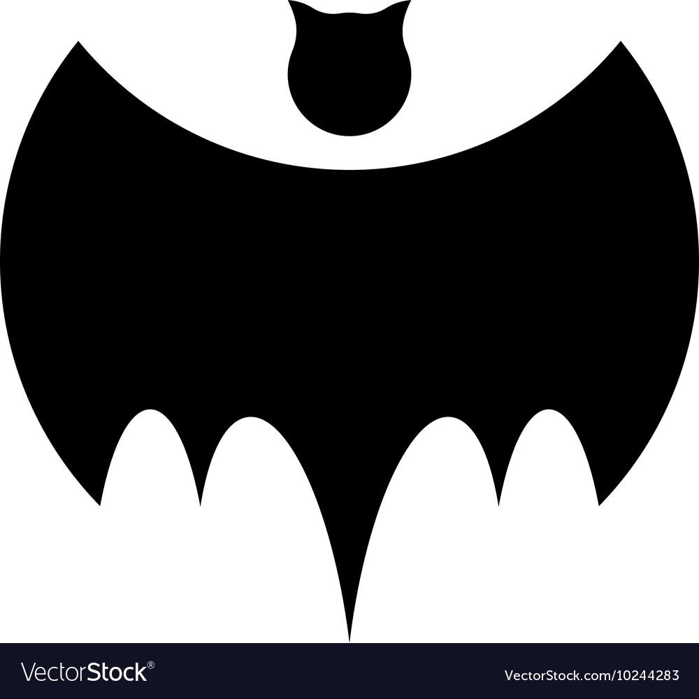 Isolated black color bat logo Night flying