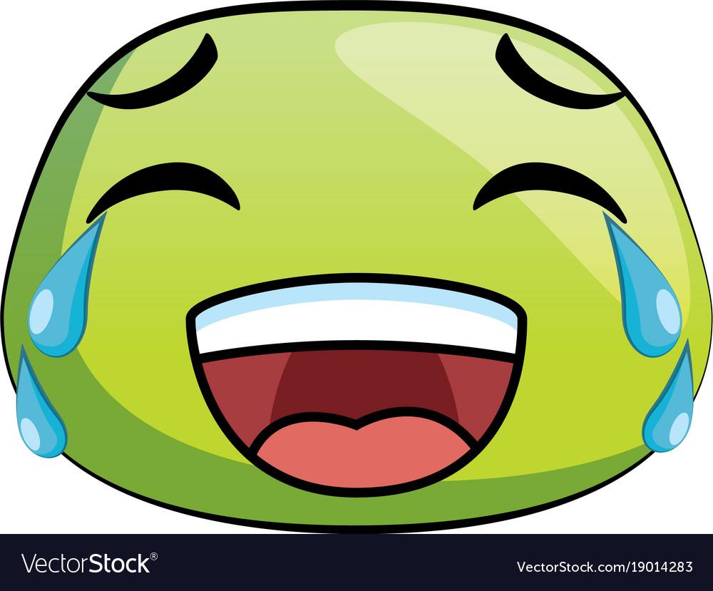 laugh emoji face icon royalty free vector image