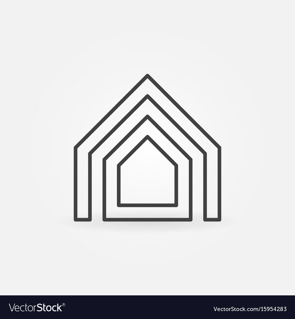 Property thin line icon vector image