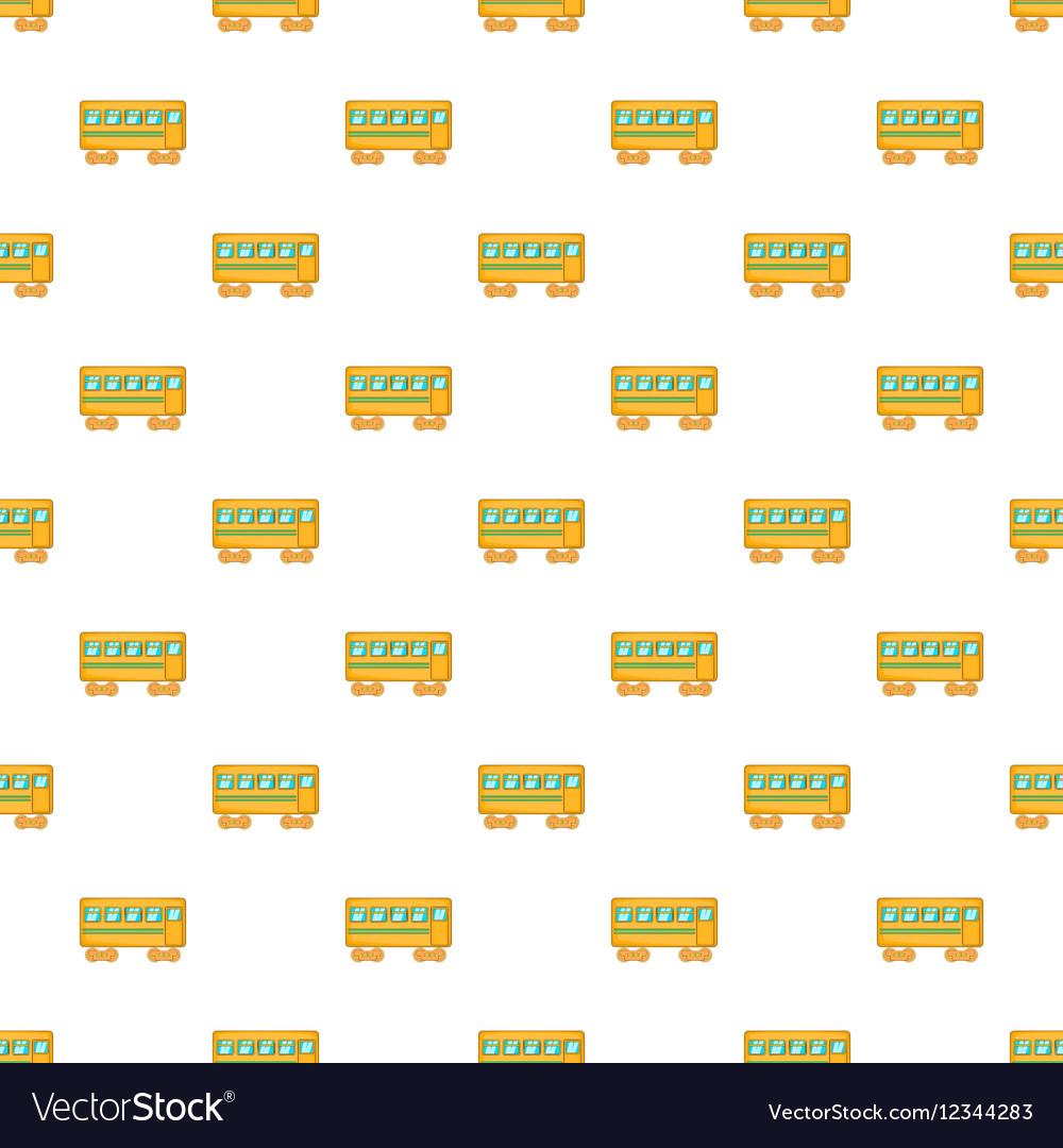Rail car pattern cartoon style