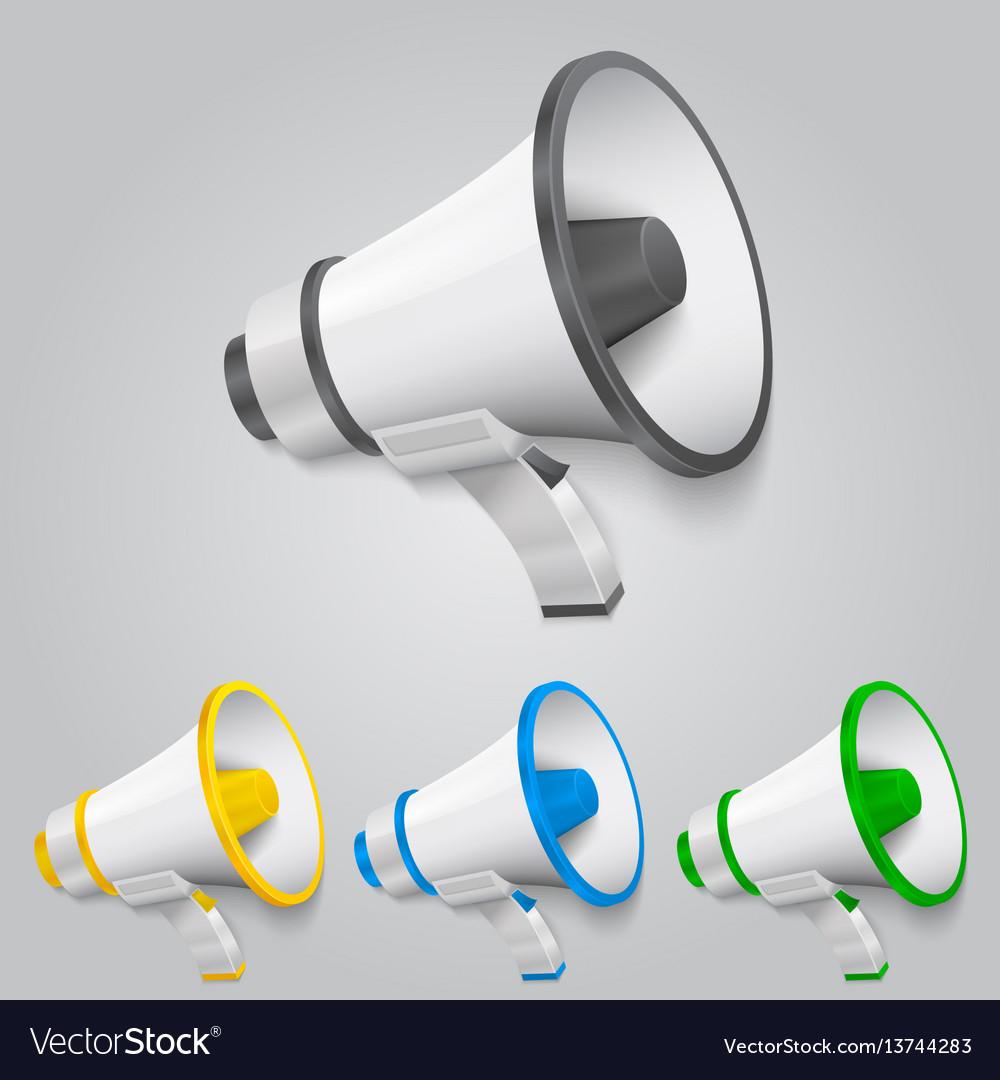 Set megaphone color