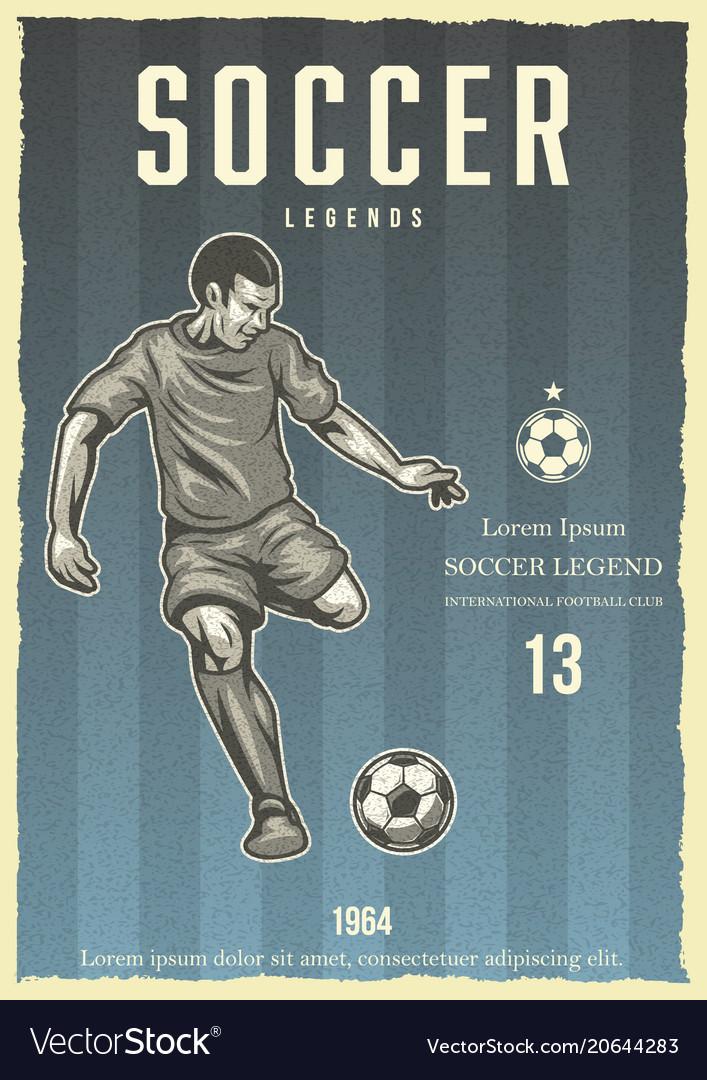 Soccer vintage poster