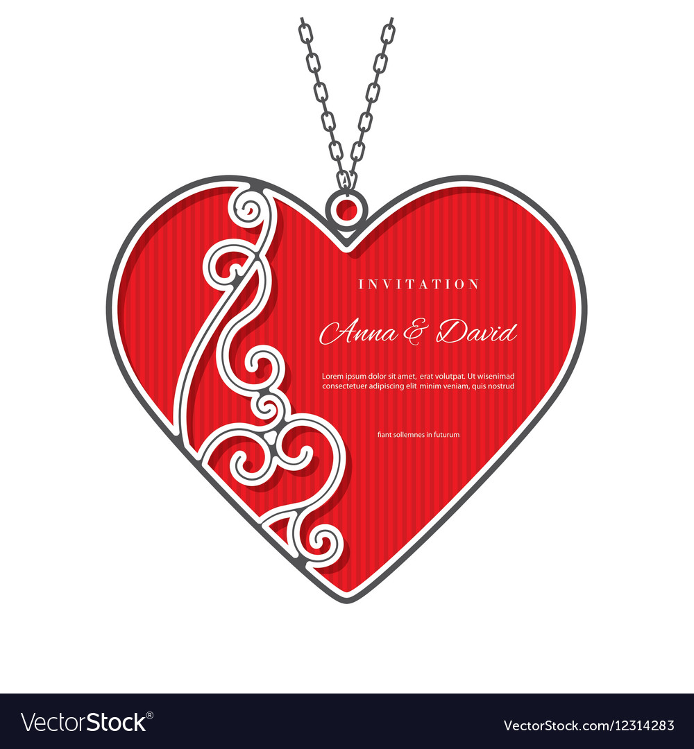 valentines day template with laser cutting frame vector image
