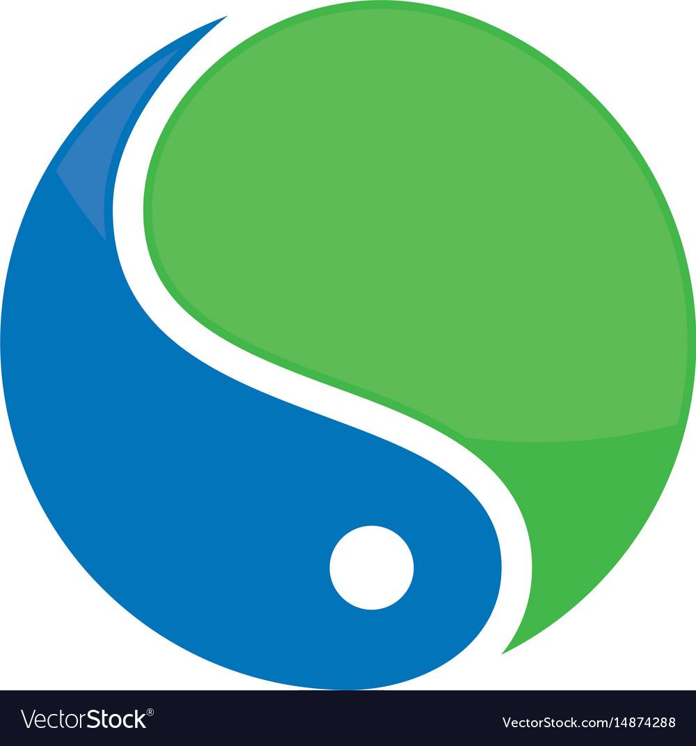 Abstract circle water logo image