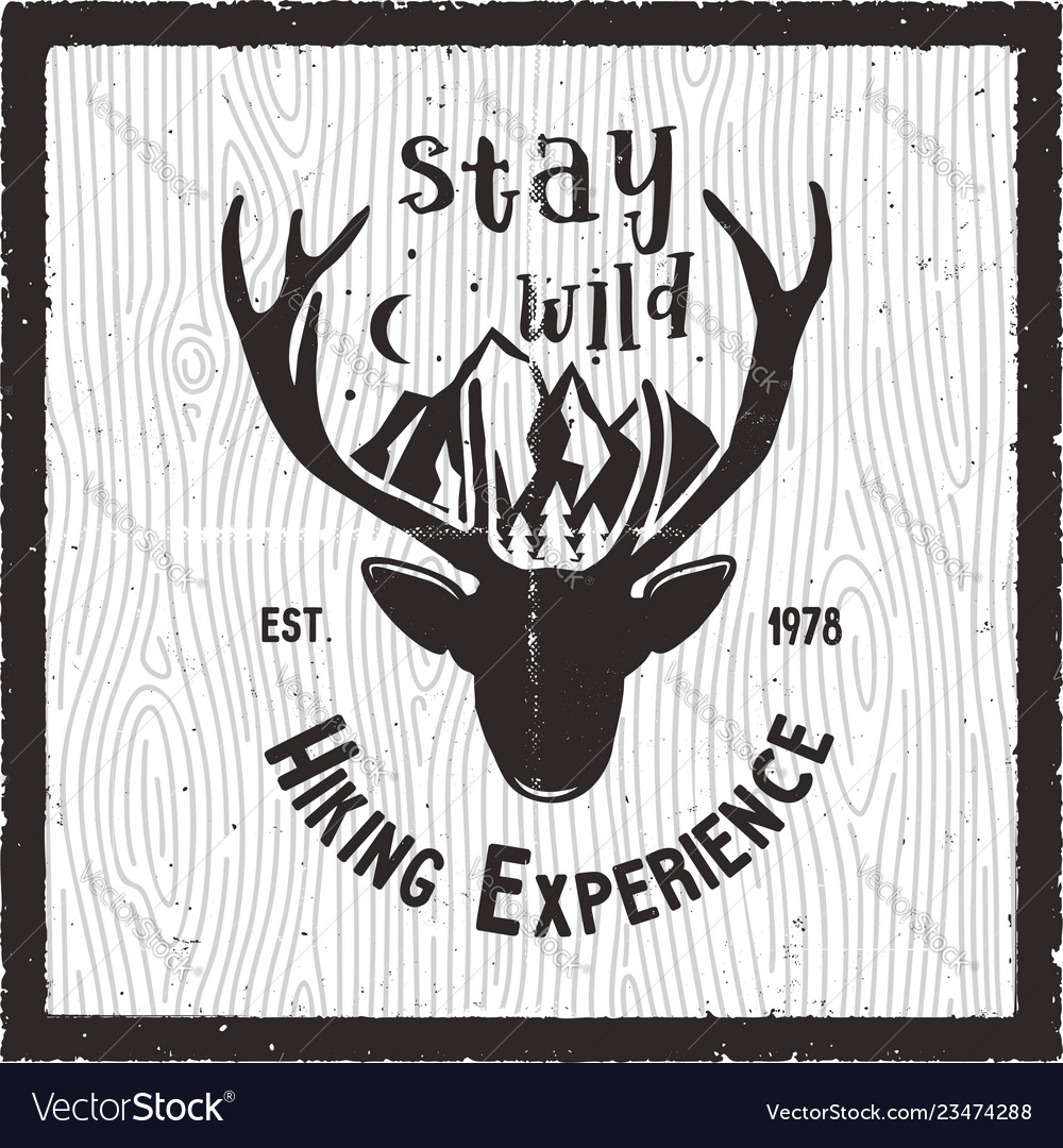 Adventure poster - stay wild hiking experience