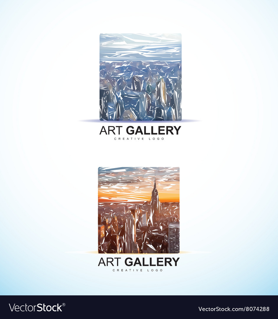 Art gallery painting logo abstract