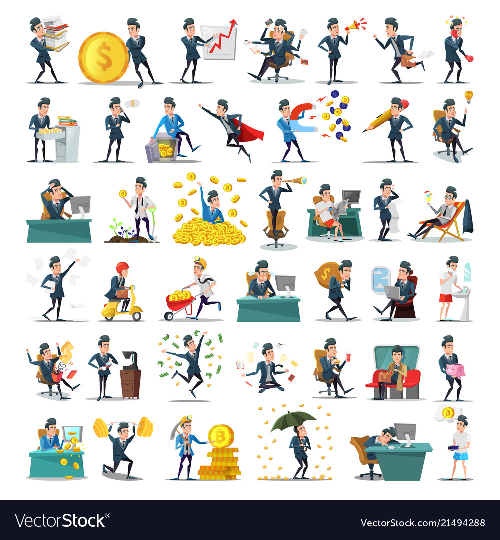 Business people characters collection businessman