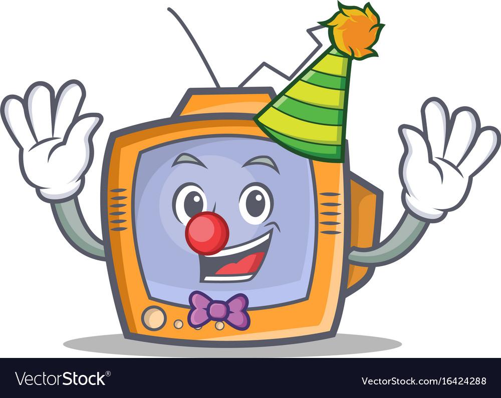 Clown tv character cartoon object vector image