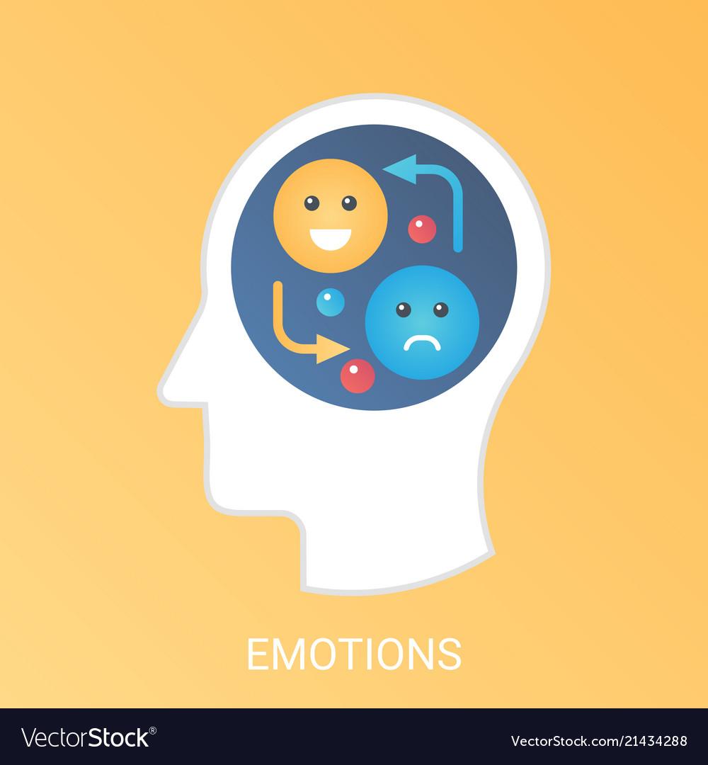 Emotions concept modern gradient flat
