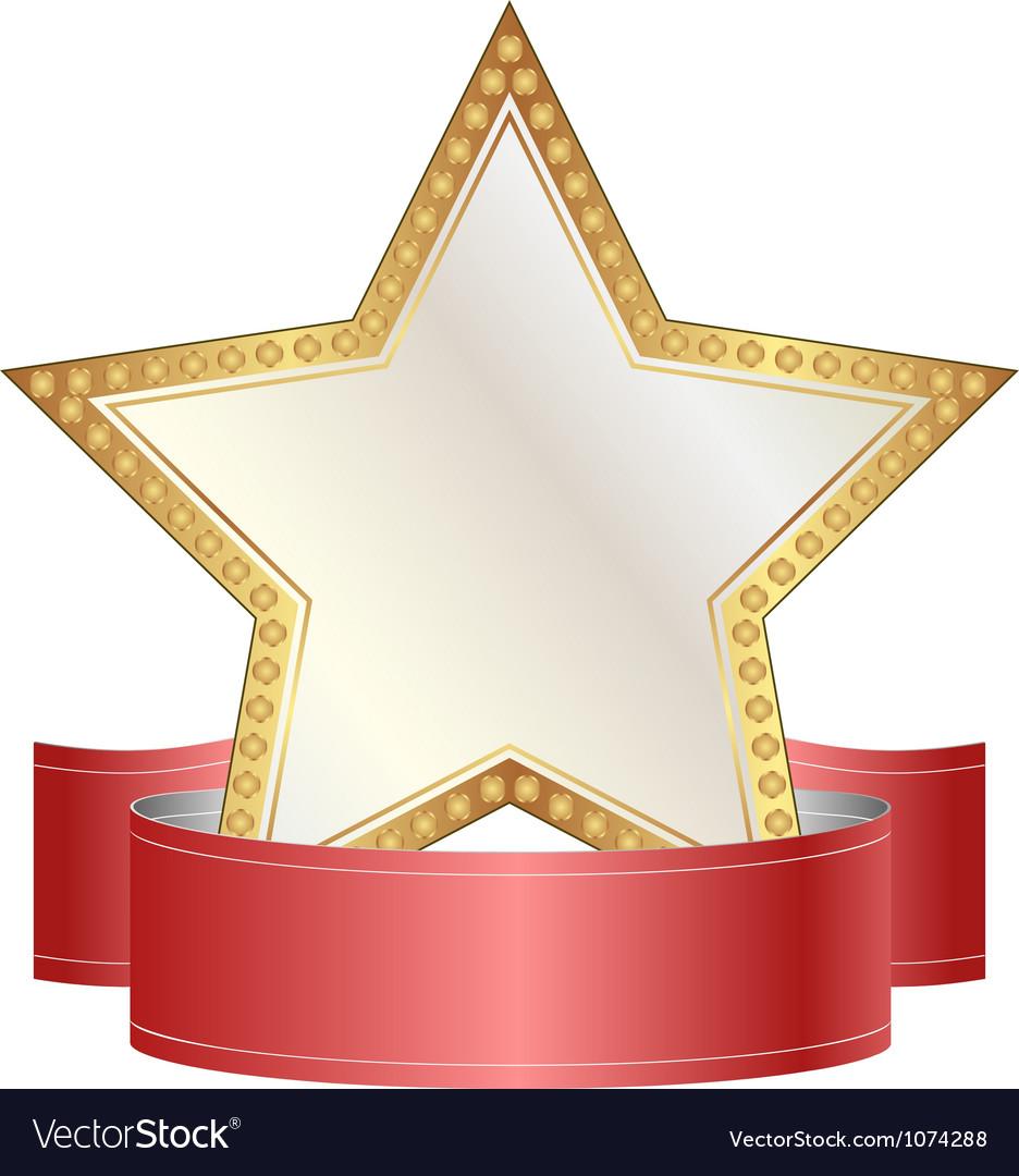 Картинки звезда с лентой