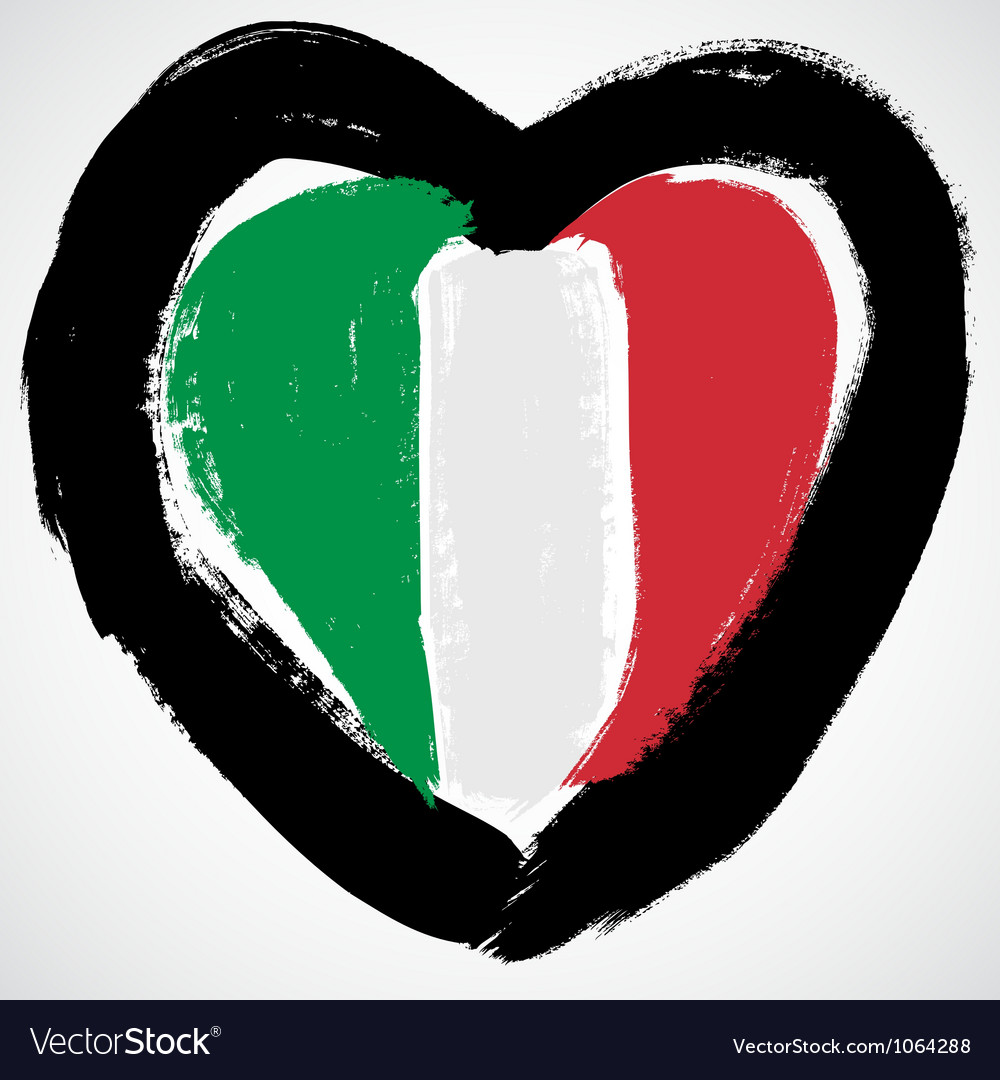 Italy grunge flag vector image
