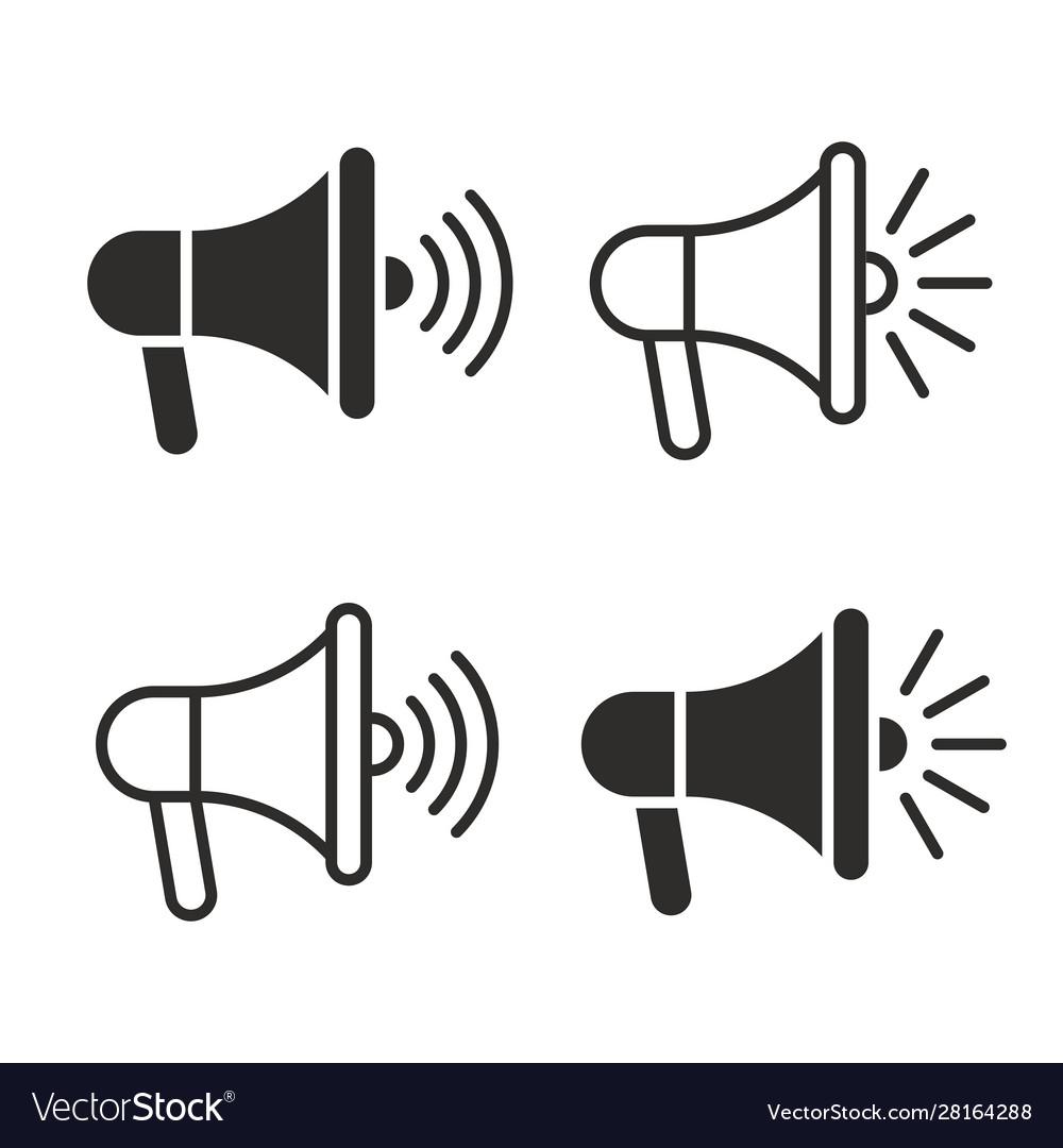 Megaphones icons set