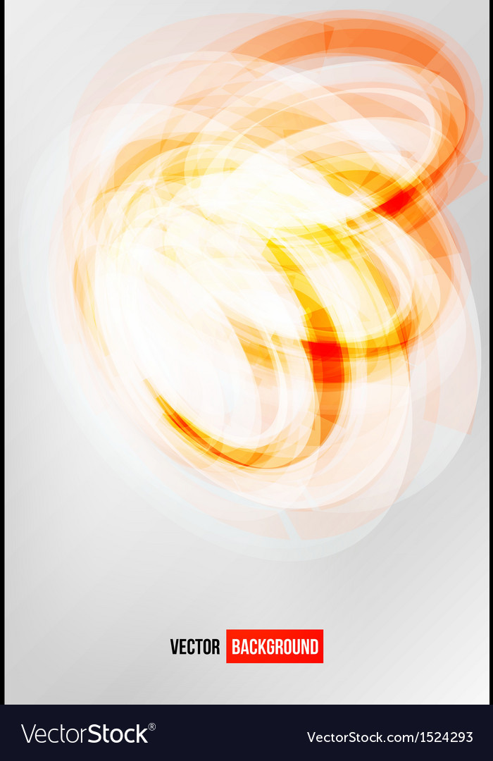 Circle orange logo card vector image