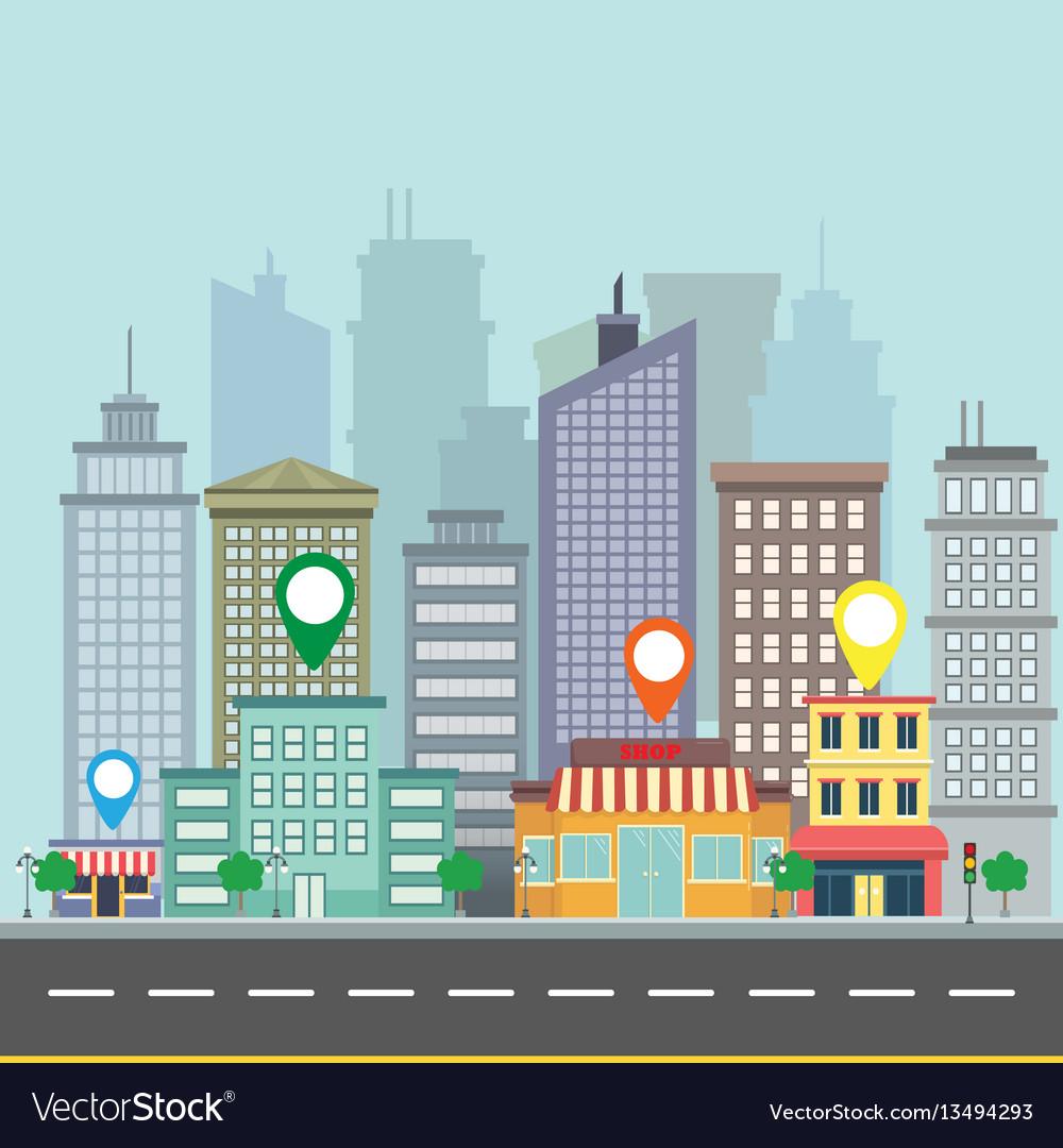 City web banner navigation