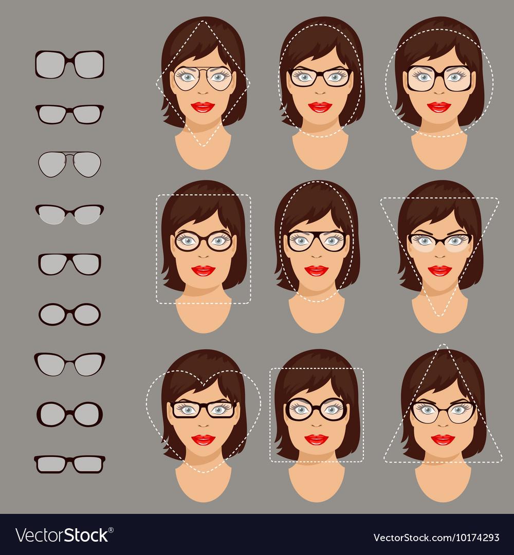 78f1b59faa3 Glasses shapes 1 Royalty Free Vector Image - VectorStock