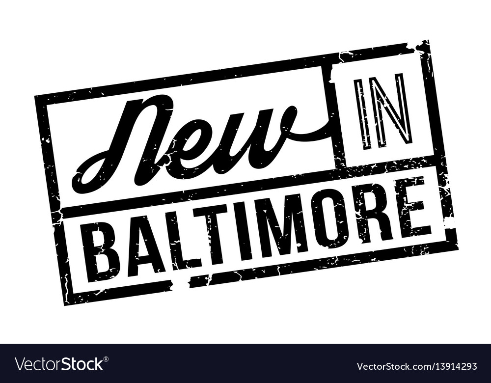 New in baltimore rubber stamp vector image