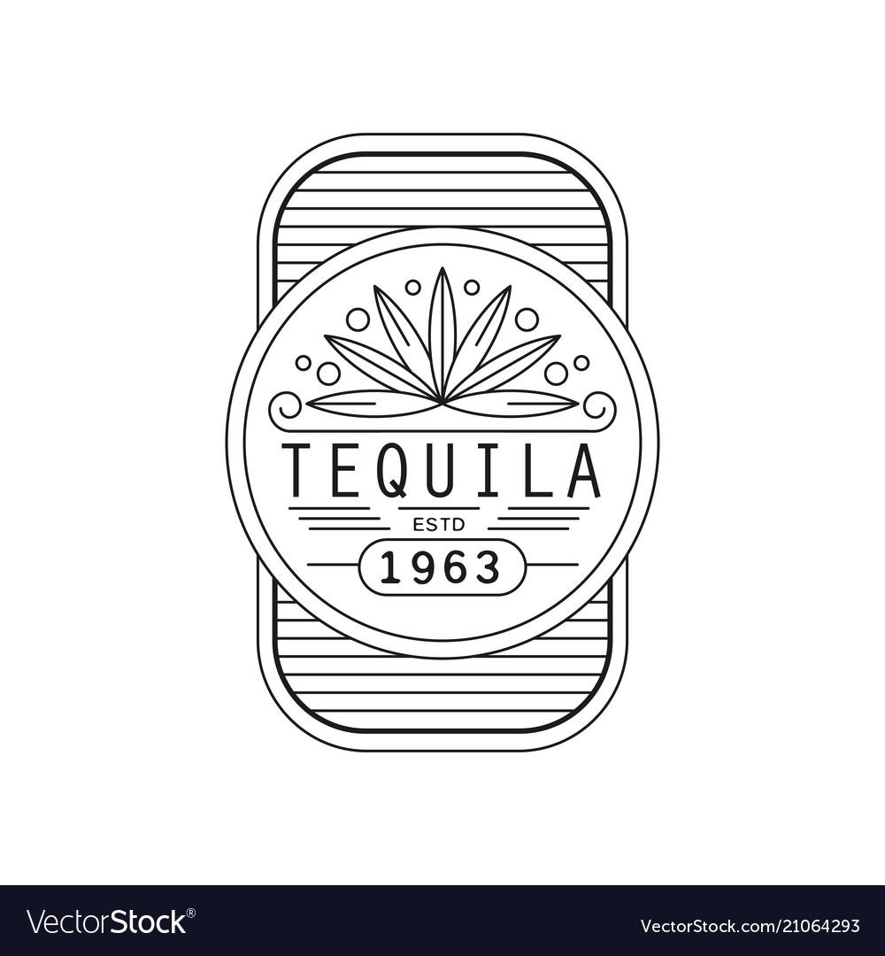 Tequila vintage label design alcohol industry