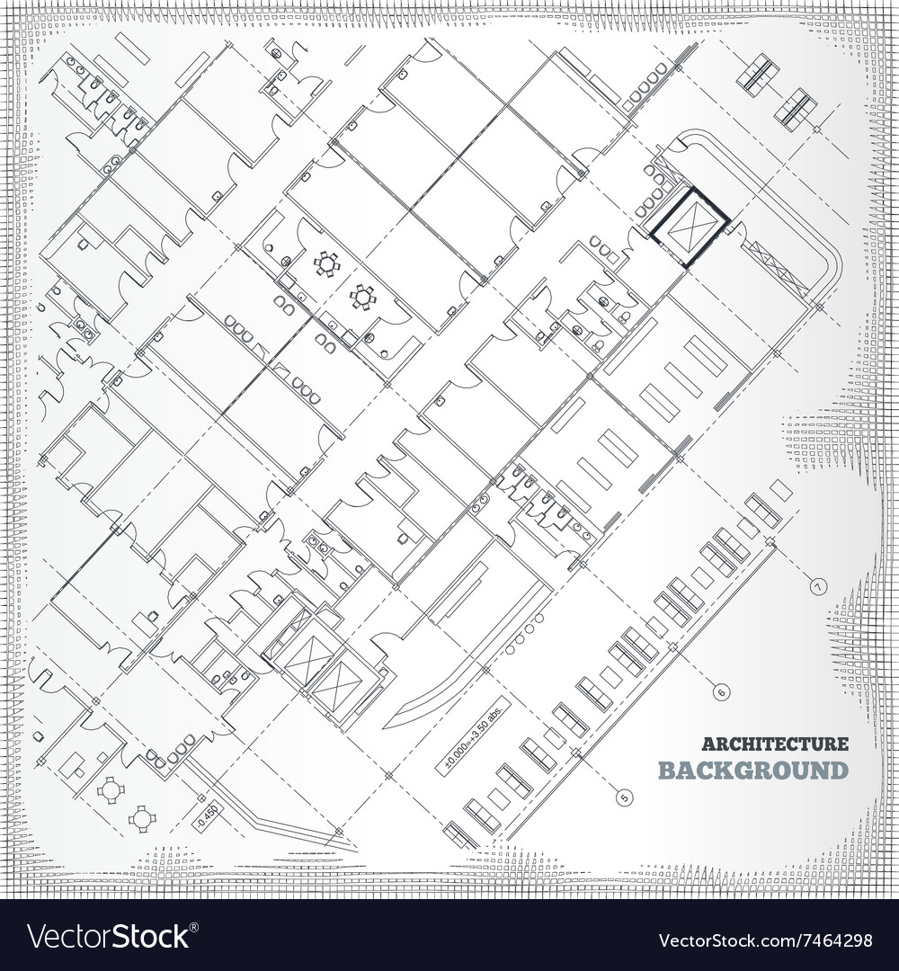 Architectural pattern Gray building plan Vector Image