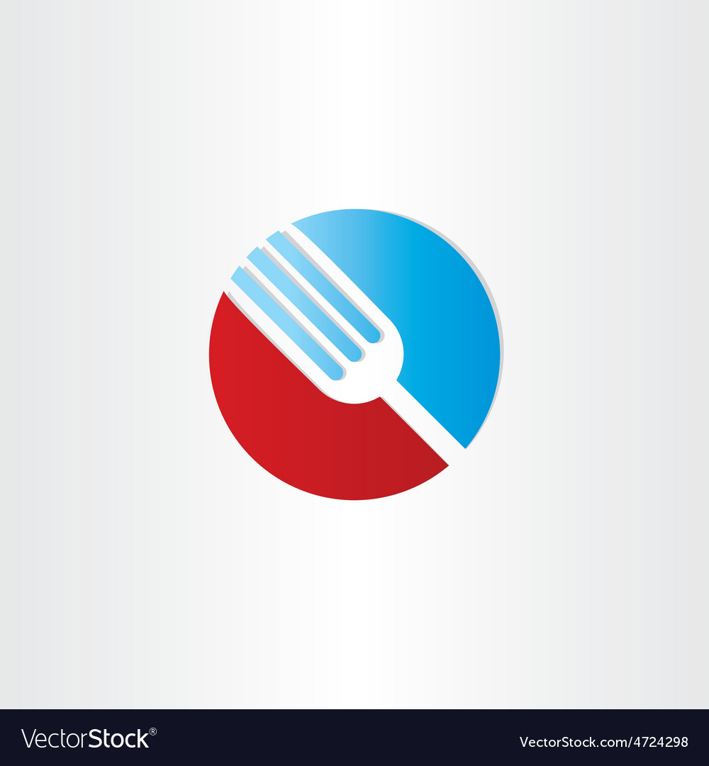 Circle fork restorant symbol vector image
