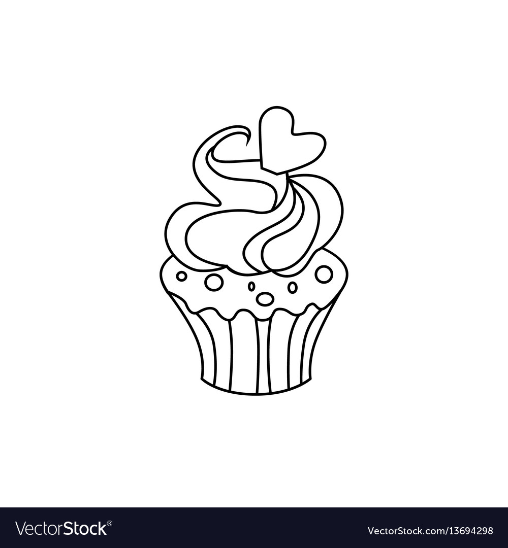 Cupcake icon character 03 vector image