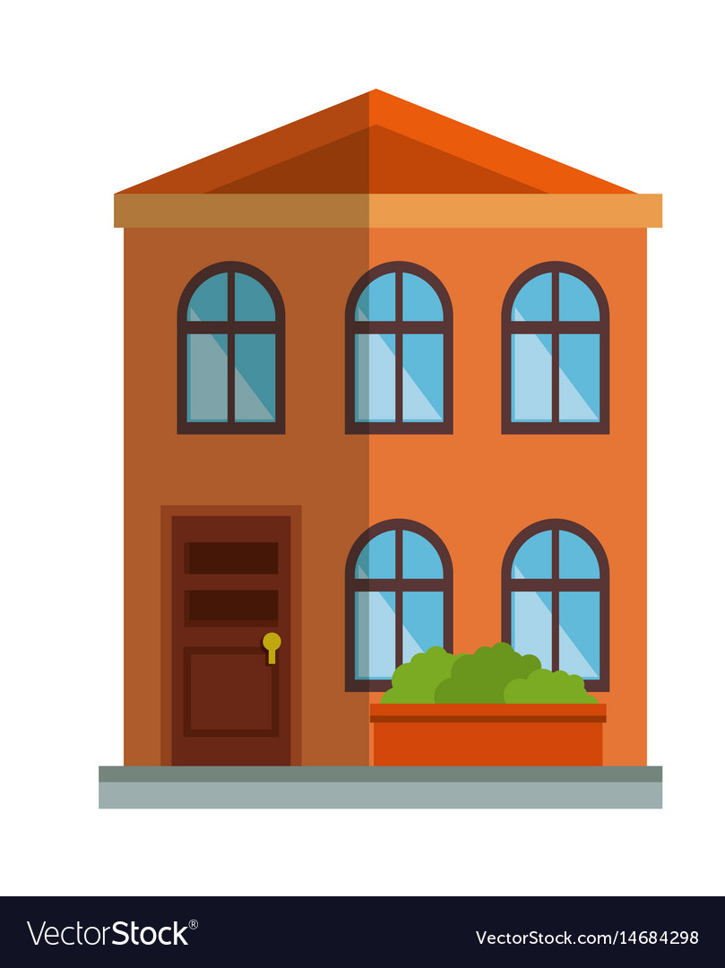 Cute building exterior icon