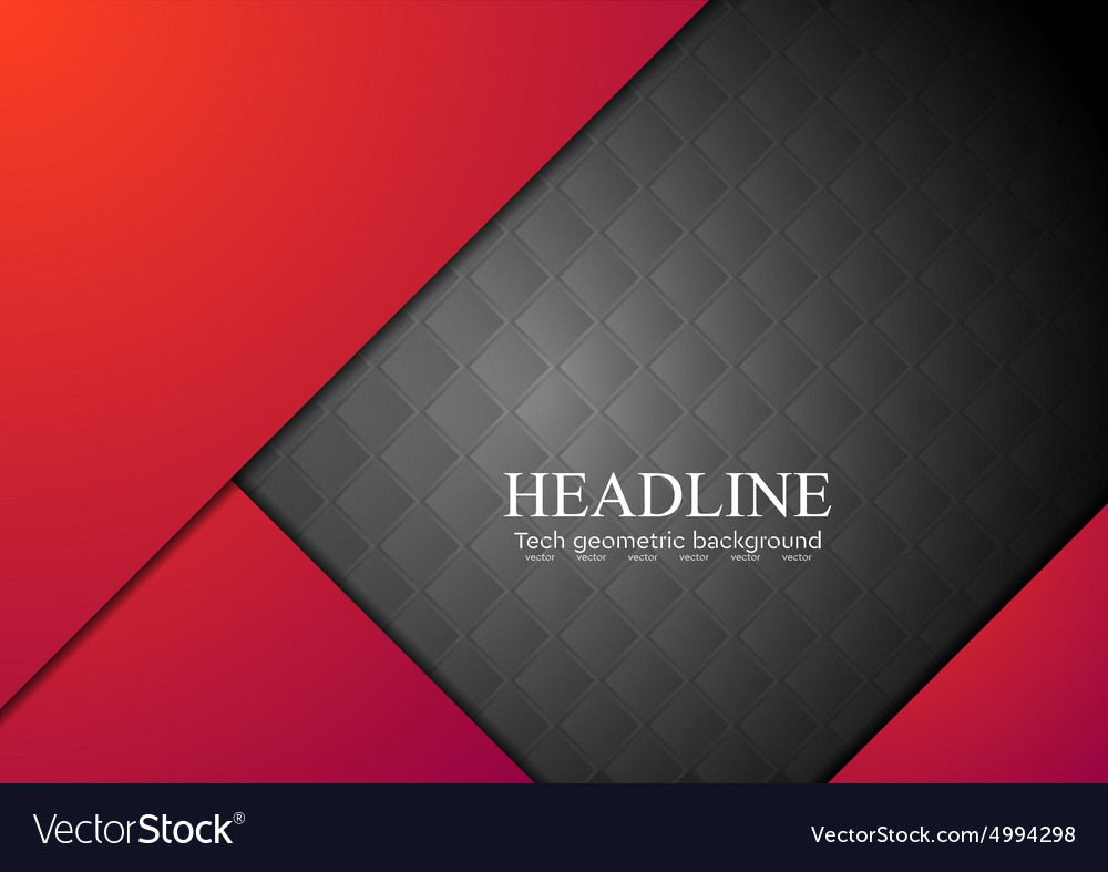Dark red corporate abstract background vector image