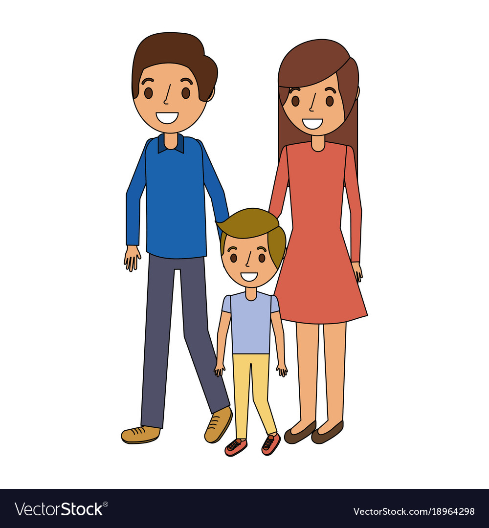 3dffd842b Family father mother and son together standing Vector Image