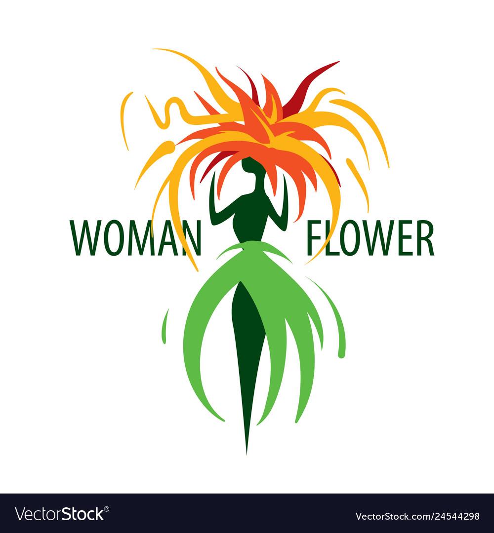 Girl logo in the shape of a flower