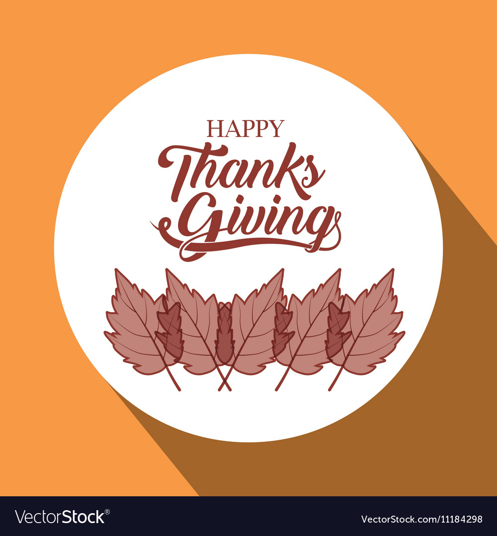 Leaves of Thanks given design