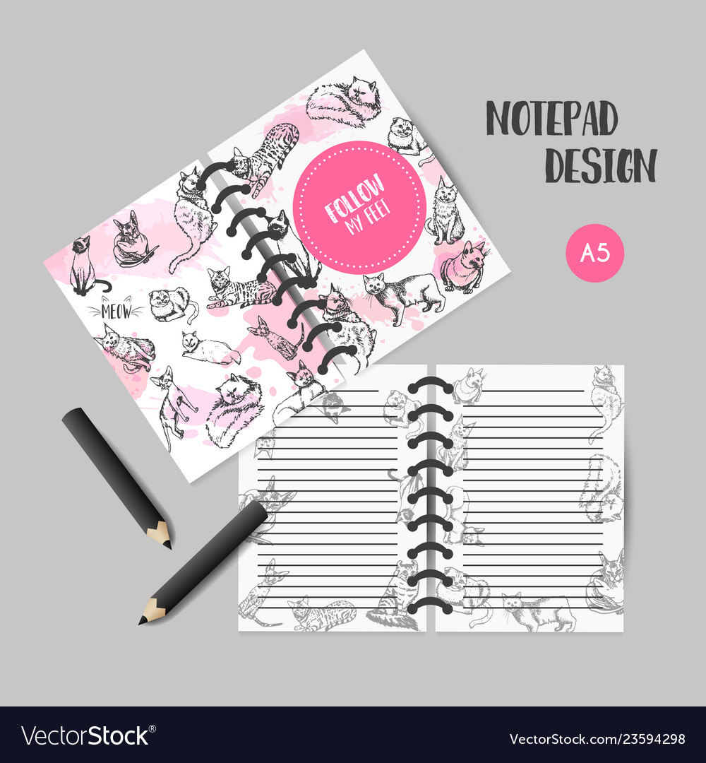 Printables with cat breeds organizer design for