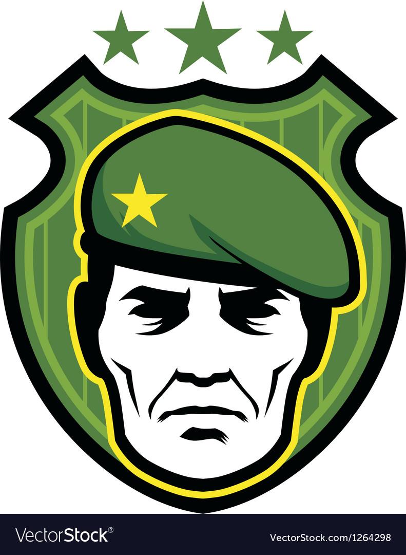 Soldier mascot vector image