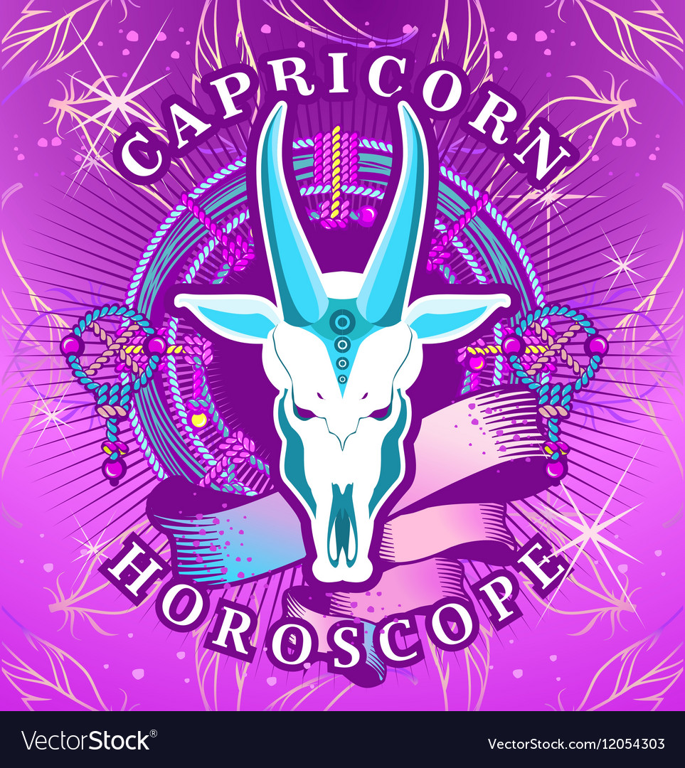 Capricorn zodiac sign vector image